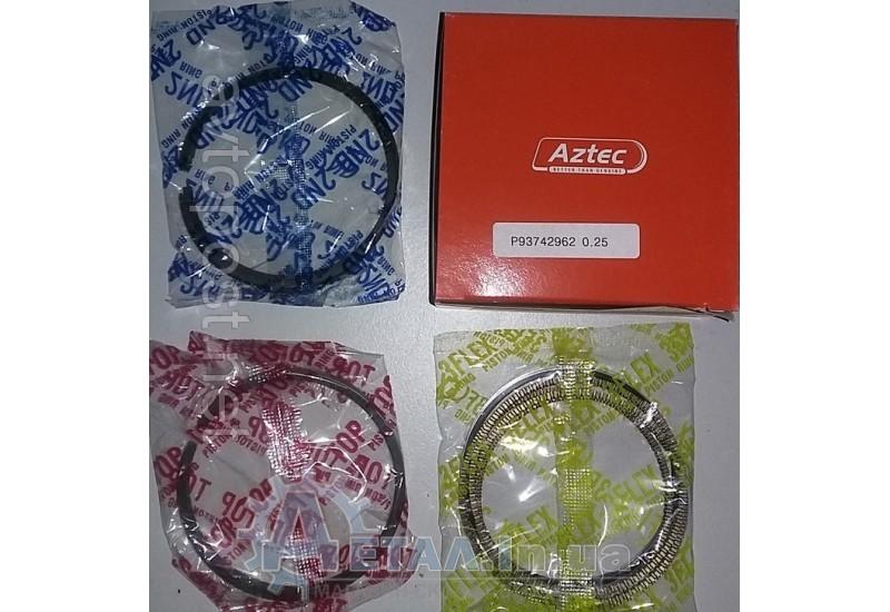 Кольца поршневые Шевроле АВЕО 1,5 AZTEC +0,25 фото, купить