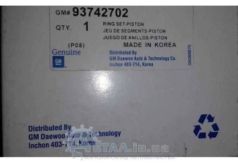 Кольца поршневые Лачетти 1.8 LDA +0.5 GM фото, купить